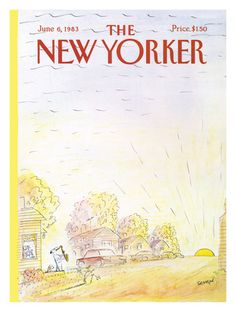 The New Yorker Cover - June 6, 1983  Jean-Jacques Sempé