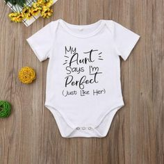 Baby Girl Onsies, Cute Baby Boy, Baby Shirts, Baby Boy Outfits, Aunt Baby Clothes, Aunt Onesie, Unisex Baby, New Baby Products, Circuit