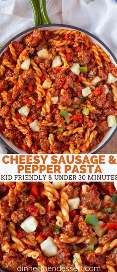 Homemade Sausage and Pepper pasta made with ground pork, chopped bell peppers an. Homemade Sausage and Pepper pasta made with ground pork, chopped bell peppers and an easy homemade marinara sauce, this recipe is totally from scratch. Ground Pork Sausage Recipes, Sausage Recipes For Dinner, Beef Recipes, Ground Sausage, Recipes With Ground Pork Easy, Pepper Recipes, Italian Recipes, Sausage And Peppers Pasta, Kitchens