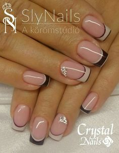 53 Trendy Nails 2018 Negras 53 Trendy Nails 2018 Negras – My World Frensh Nails, French Manicure Nails, Nails 2018, French Tip Nails, Diy Nails, French Nail Art, Nail Tip Designs, Manicure Nail Designs, Nail Art Designs Videos