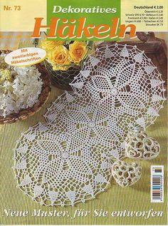 View album on Yandex. Crochet Books, Thread Crochet, Crochet Gifts, Knit Crochet, Pop Tab Crafts, Diy And Crafts, Crochet Dollies, Pop Tabs, Crochet Magazine