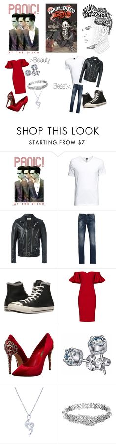 """""""Love, B. Urie"""" by kaylee-elaine ❤ liked on Polyvore featuring Yves Saint Laurent, Armani Jeans, Converse, Badgley Mischka, Casadei, BERRICLE and Kate Spade"""