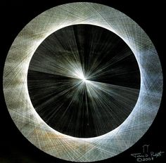 Jason Padgett, Light is Pi, the Shape of Pi unique, mathematical vision of the world. The circle is —created out of 720 hand-drawn triangles