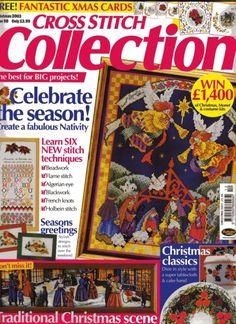 "ru / Фото - 098 рождество 2003 - ""Celebrate the Season"" Cross Stitch Tree, Cross Stitch Boards, Cross Stitch Designs, Cross Stitch Patterns, Magazine Cross, Cross Stitch Magazines, Cross Stitch Collection, Stitch Book, Christmas Cross"