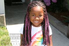Pink Yarn Extensions: A Fun Twist on Summer Style | Chocolate Hair / Vanilla Care #naturalhair