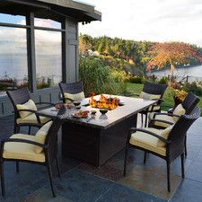 South Beach 7 Piece Fire Pit Seating Group with Cushions