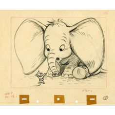 Sketches from the Disney movie Dumbo Disney Pixar, Disney And Dreamworks, Disney Animation, Disney Art, Dumbo Disney, Disney Love, Disney Magic, Mickey Mouse, Disney Concept Art