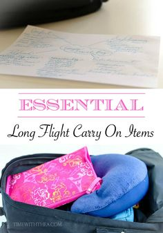 Essential Long Flight Carry On Items