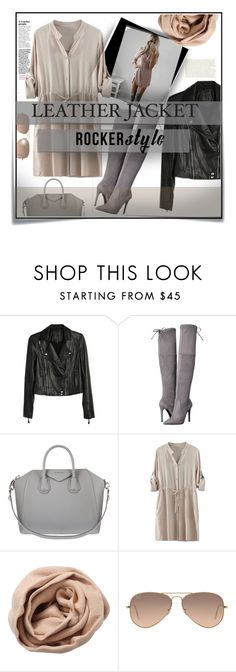 """Rocker Style"" by tanyaf1 ❤ liked on Polyvore featuring Post-It, Paige Denim, GUESS, Givenchy, Brunello Cucinelli and Ray-Ban"