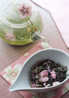 Sakura Tea | Rich tea made with organic cherry blossoms. Fragrant, flavorful and fascinating. This one will be one of your favorites! http://www.buddhateas.com/sakura-japanese-black-tea-loose-leaf.html