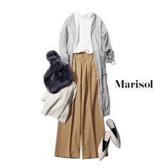 ハロウィン用のコスチュームを買ってあげるため姪と週末デートに【2017/10/21コーデ】Marisol ONLINE|女っぷり上々!40代をもっとキレイに。 All Fashion, Modest Fashion, Korean Fashion, Fashion Outfits, Womens Fashion, Capsule Outfits, Fashion Capsule, Uniqlo Women Outfit, Comfortable Outfits