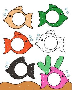 fish color match for preschool and kindergarten Fish Activities, Preschool Learning Activities, Color Activities, Preschool Worksheets, Toddler Activities, Preschool Activities, Kids Learning, Preschool Colors, Numbers Preschool