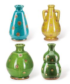 Cool Polka Dot Vase Set