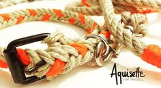 Collare in corda di canapa naturale e paracord arancio #aquisette #accessori #animali #cani #corda #collare #cane #canapa #fattoamano #accessories #dogleash #dog #doglover #dogstagram #collar #rope #paracord #handmade #happy_pet #madeinitaly #orange #colours #colorato #arancione by aquisette_irenecenton