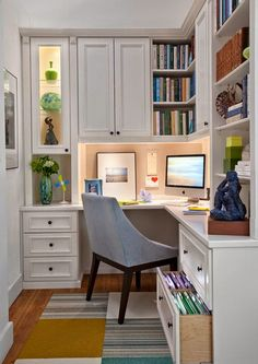 Home Office. Small Home Office Ideas. Convert a small space to a polished eye-catching and functional home office. targeting a classic yet modern style. Our motto here at O'lagio Small Space Office, Small Home Offices, Home Office Space, Home Office Design, Home Office Decor, House Design, Home Decor, Office Designs, Cozy Office