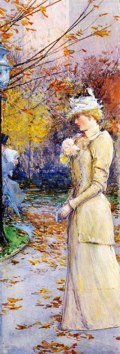 The Athenaeum - Indian Summer in Madison Square (Frederick Childe Hassam - )