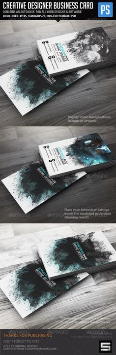 Creative Designer Business Card  #calling card #colorful #corporate • Click here to download ! http://graphicriver.net/item/creative-designer-business-card/1685337?s_rank=227&ref=pxcr