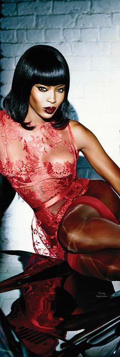 Naomi Campbell, Photo: Ellen von Unwerth / Courtesy of Agent Provocateur