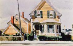 Edward Hopper. The Yellow House, 1923.