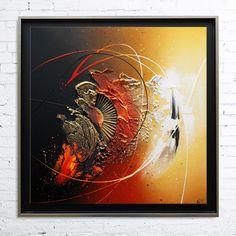 Tableau abstrait contemporain encadré, peinture acrylique en relief noir ocre jaune rouge : Peintures par tableaux-abstraits-nathalie-robert. #abstractart #abstract #abstractpainting #abstractcanvas #contemporaryart #contemporarypainting #abstrait #peintureabstrait #tableauxmoderne #canvastraditional #acrylic #acrylique #acrylicpainting #peintureacrylique #abstracttexture #canvas #canvastexture #modernart #modernpainting #peinturemoderne #tableauabstrait #abstractsurreal #alittlemarket