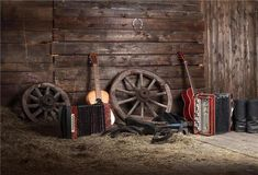 Leowefowa Vinyl Old Barn Backdrop Western Cowboy Vintage Wheel Boots Guitar Gloomy Stripes Wood Plank Straw Photography Background Kids Adults Photo Studio Props >>> Sincerely hope you do enjoy the picture. (This is our affiliate link) Fabric Photography, Scenery Photography, Background For Photography, Photography Backdrops, Photography Backgrounds, Rustic Photography, Product Photography, Digital Photography, Newborn Photography
