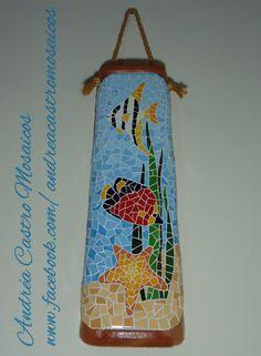 Telha em mosaico - Andréa Castro Mosaicos - www.facebook.com/andreacastromosaicos
