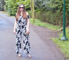 """Jacquard Flower - """"My choice was the Frill Top Jumpsuit which would be perfect for summer and suit a wide range of situations from beach to shopping to bar. It has a wide leg and the most lovely fabric that's both stretch and silky it's so comfortable and flattering to wear"""" #SoakItUp #Kaleidoscope #Fashion #Style #SS16 #OOTD"""