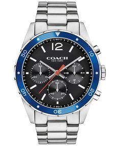 Coach Men's Chronograph Sullivan Sport Stainless Steel Bracelet Watch 44mm…