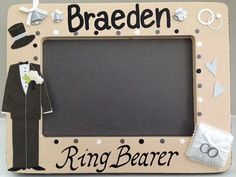 Personalized picture frame Ring Bearer/Wedding di FramesByMelissa, $25.00