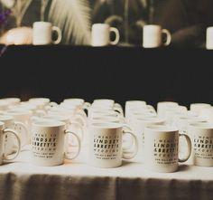 Cozy Up With 20 Winter Wedding Favors via Brit + Co. wedding favor mug