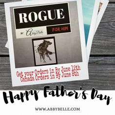 Get ready for Fathers Day with the rogue line of new products. www.affiliate.abbybelle.com/lydszm/