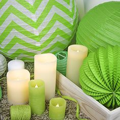 #greenery #bougiesled Bougie Led, Greenery, Candles, Color Of The Year, Lantern Candle Holders, Paper Lanterns, Candle Sticks, Candle