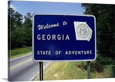Georgia State Line... Excited about our adventure!