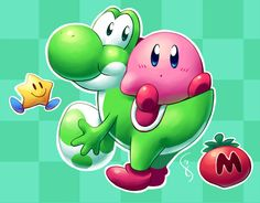Yosh and Kirb by Torkirby on DeviantArt