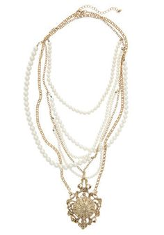Material Pearl Necklace  ModCloth  $29.99