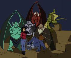 gargoyles cartoon characters | Goliath, Hudson, Broadway, Brooklyn, Lexington, and Bronx!