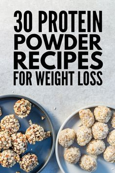 30 Protein Powder Recipes to Help You Feel Full and Lose Weight. Protein powder is one of the best ways to get your protein in especially if youre not able to get a sufficient amount of protein through your meals on a daily basis. Whey Protein Recipes, Protein Snacks, Protein Powder Recipes, Protein Ball, Low Carb Recipes, Smoothie Recipes, Protein Cookies, Protein Bites, Ramen Recipes