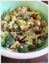 "This got raves from a dozen ladies at lunch today! ""The Best Ever Broccoli Salad with Dried Cranberries"""