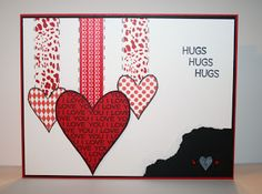 Card details:  Stamps: Hearts2diefor from The {Stamps} of Life  Cardstock: Real Red, Basic Black, Whisper White  Inks: Memento Tuxedo Black, Craft White  Embellishments: Washi Tape, Kaiser Craft Basics Pearls-Red