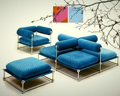 modular seating designed by Verner Panton and produced by...