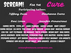 SCREAM! For the Cure ~ Authors taking a stand against Cancer
