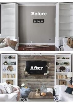 DIY Wood Pallet Accent Wall for Living Room by heidi