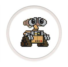 Instant download,free shipping,Cross stitch pattern, Crossstitch PDF,wall-e and eva,zxxc0029