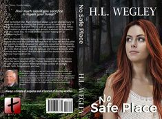 Full cover for No Safe Place, a high-action, romantic-suspense story, releasing May 21, 2108
