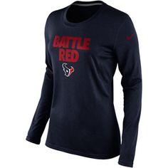 #Texans  http://texans.fanatics.com/NFL_Houston_Texans_Ladies/Nike_Houston_Texans_Ladies_Battle_Red_Local_Long_Sleeve_T-Shirt_-_Navy_Blue