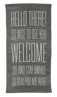 Hello There… Grey Area Rug