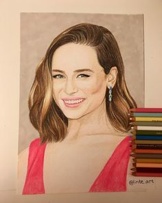 37 mentions J'aime, 4 commentaires - @linte.art sur Instagram: «Sick day sketching🙈 Prismacolor drawing of the lovely Emilia Clarke Love her eyes, so fun to draw…» Sick Day, Emilia Clarke, Prismacolor, Sketching, Love Her, Mona Lisa, Eyes, Drawings, Artwork