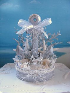 Anchor Wedding Cake Topper~designed by CeShoreTreasures~