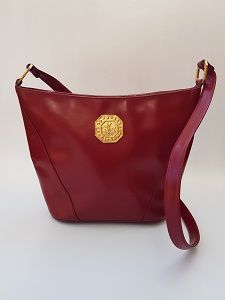 74f7bc78bbc2 YSL Bag. Yves Saint Laurent Vintage Maroon Dark Red Leather Shoulder Bag .  French designer purse.