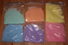 Momma's Fun World: Home made colored sand with chalk & salt